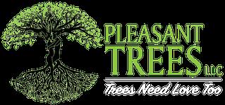 Pleasant Trees Logo White